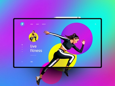 Fitness website design uxdesign ux uidesign ui landingpage