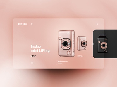 Fujifilm Instax mini LiPlay website design uxdesign ux uidesign ui landingpage
