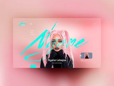 Nyane Lebajoa website design uxdesign ux uidesign ui landingpage