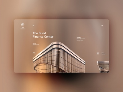 The Bund Finance Center website design uxdesign ux uidesign ui landingpage