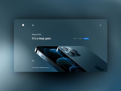 iPhone 12 Pro website design uxdesign ux uidesign ui landingpage