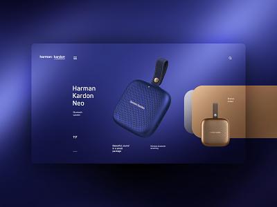 harman kardon website design uxdesign ux uidesign ui landingpage