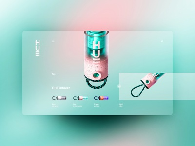HUE inhaler website design uxdesign ux uidesign ui landingpage