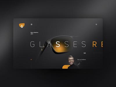 G glasses website design uxdesign ux uidesign ui landingpage