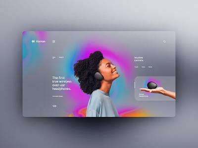 Human Headphones website design uxdesign ux uidesign ui landingpage