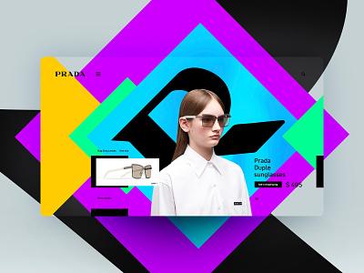 Prada website design landingpage uxdesign ux uidesign ui