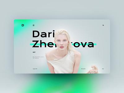 Daria Zhemkova website design landingpage uxdesign ux uidesign ui