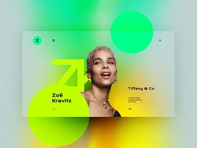 Zoe Kravitz website design landingpage uxdesign ux uidesign ui