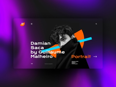 Damian website design landingpage uxdesign ux uidesign ui