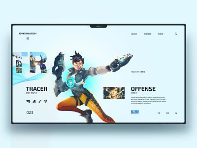 Overwatch Tracer design ui ux uidesign uxdesign website landingpage