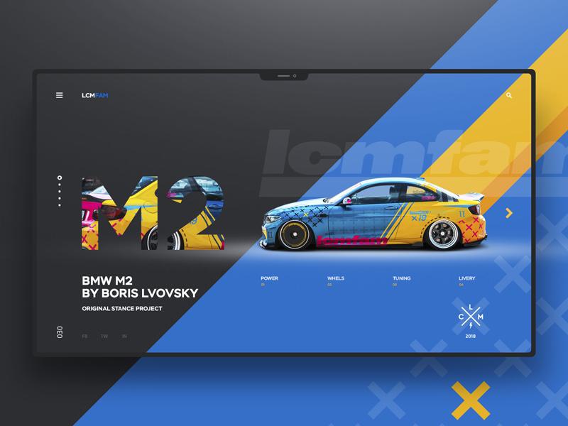 Low Cars Meet / Lcmfam landingpage website uxdesign uidesign ux ui design
