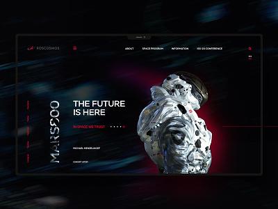 Roscosmos website uxdesign ux uidesign ui landingpage design