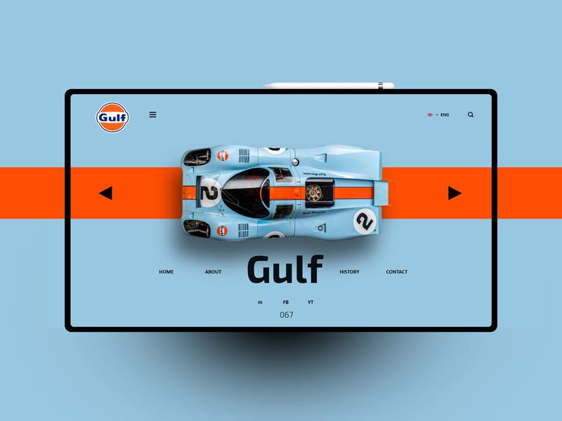 Gulf website design uxdesign ux uidesign ui landingpage