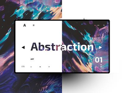 Abstraction website design uxdesign ux uidesign ui landingpage