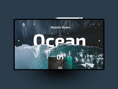 Ocean website design uxdesign ux uidesign ui landingpage