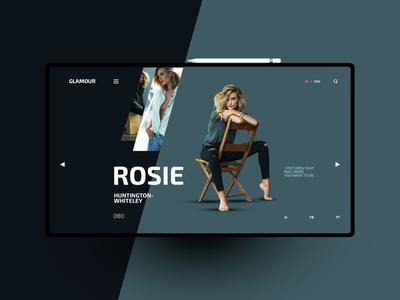 Rosie website design uxdesign ux uidesign ui landingpage
