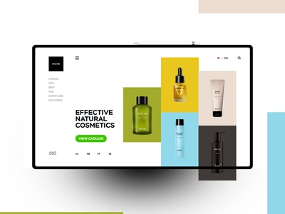 Riche website design uxdesign ux uidesign ui landingpage