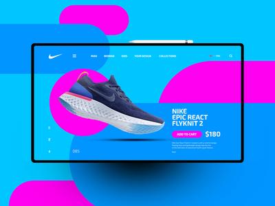 Nike website design uxdesign ux uidesign ui landingpage