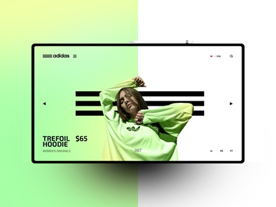 Adidas website design uxdesign ux uidesign ui landingpage