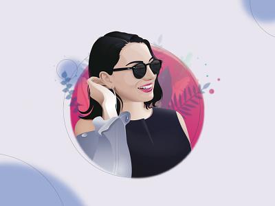 vector portrait portrait illustraion vector portrait adobe illustrator