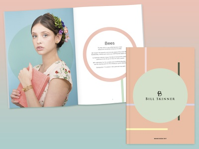 Fashion brand book retouching bees gold jewellery jewelry brochure layout graphics print