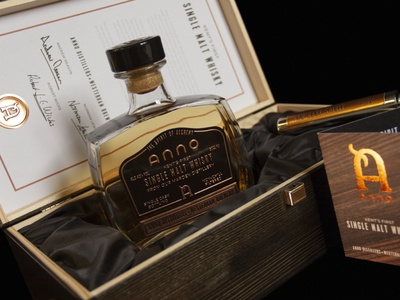 Anno limited edition whisky packaging