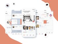 Coffee in Corner mobile app clean app design typography ux branding ui simple corner coffee shop concept ios mobile app mobile coffee app coffee