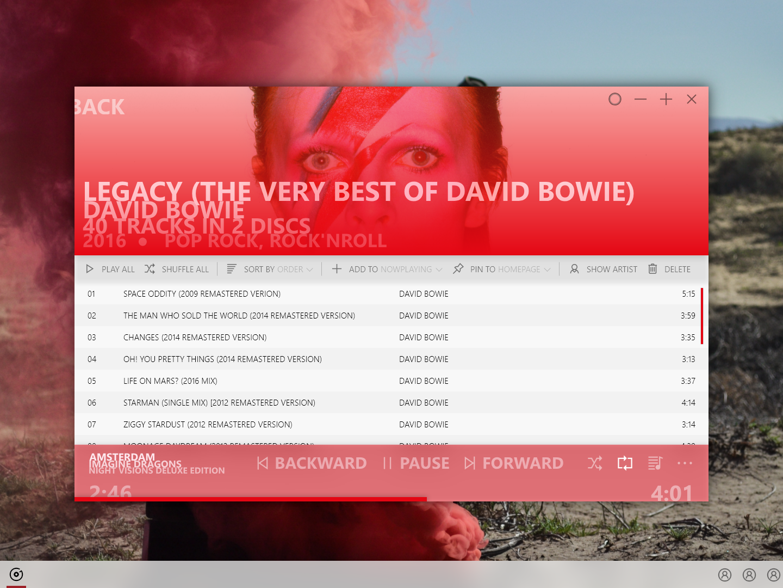 Microsoft Windows Groove App by Farhood Kankash on Dribbble