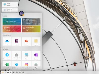 Windows London Start menu