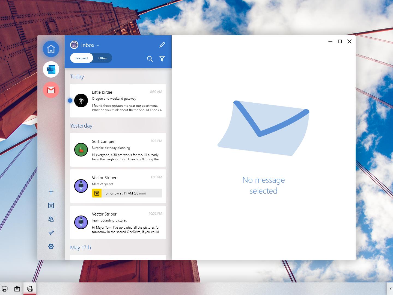 Windows London Mail email yahoo gmail outlook inbox mailbox mail app adobexd windows 10 windows ux ui microsoft fluent design fluent