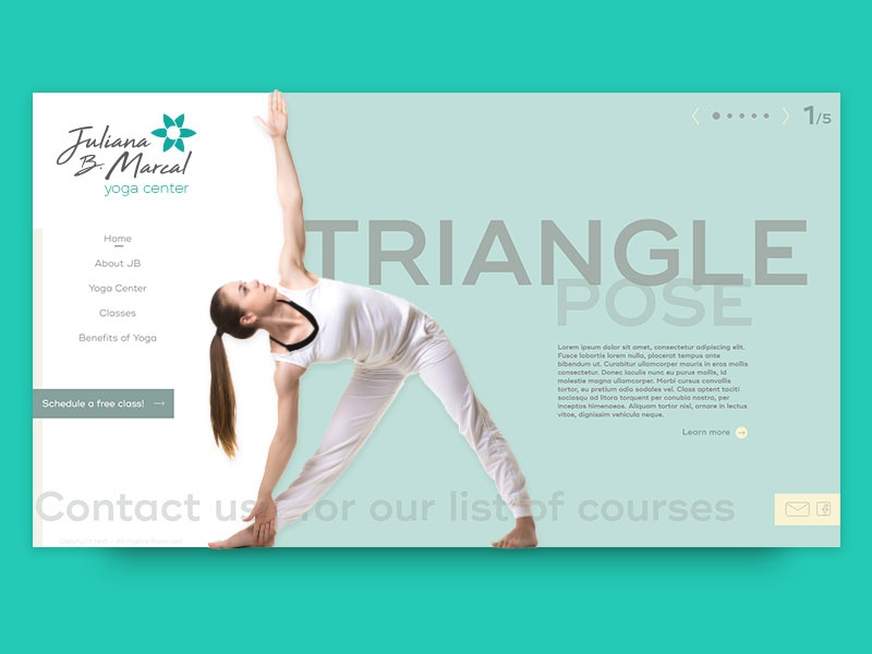 Yoga Center Homepage life healthy health nature yoga graphic design landing page ux ui design web design webdesign web