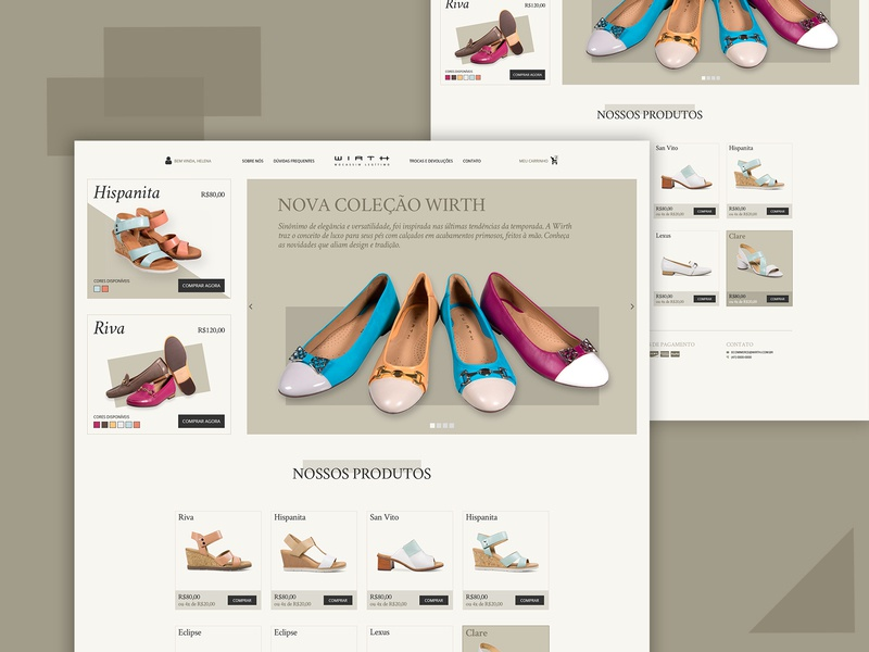 WIRTH - Shoes E-Commerce shoes store ecommerce shoe design web design webdesign ui web ui design