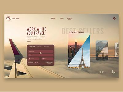 Travel Agency Slider design graphic design web design webdesign ui web ui design