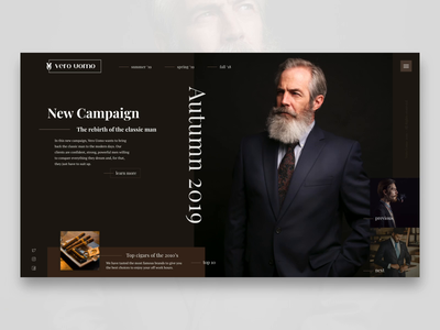 Men's Fashion website retro suits landing adobe xd clothes fashion ux graphic design web design webdesign web ui ui design