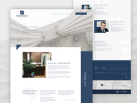 Law firm clean website