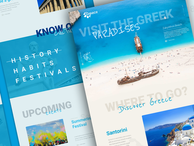 Visit Greece website redesign