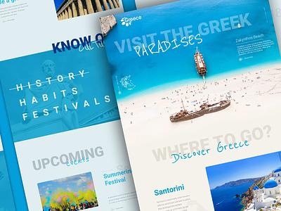 Visit Greece website redesign landing page web design greek greece travel website traveling travel uiux uxui ux ux design webdesign ui ui design