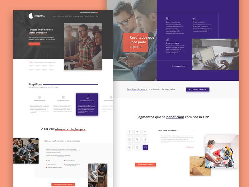 Consistem Redesign software erp corporate website design web design webdesign ux designer ux design ui designs uidesign uiux ui  ux uxui ux ui ui design