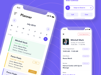 Beauty Service App – Shop Owner Side management app barber shop beauty product salon app salon beauty salon beauty app beauty barbershop barber app design ios app design app concept design uiux ios app ux ui