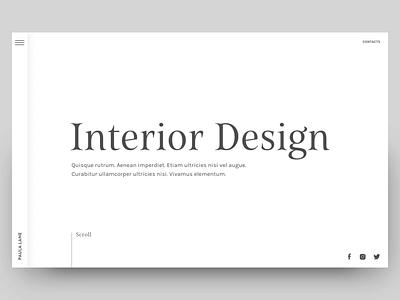 Navigation Concept for an Interior Design Portfolio design website transition animation interior design interior serif whitespace principleapp principle ux ui  ux design ui navigation design menu navigation
