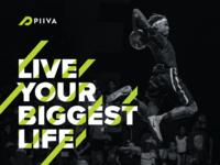 Piiva Visual Identity sports brand sports branding athletic branding athletics logo design logo identity typography design branding