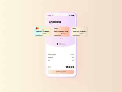 Checkout screen — Daily UI #002