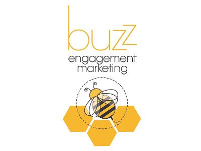 Buzz Engagement Marketing Logo icon artwork icon branding illustration award winning logo graphic design art direction typography design
