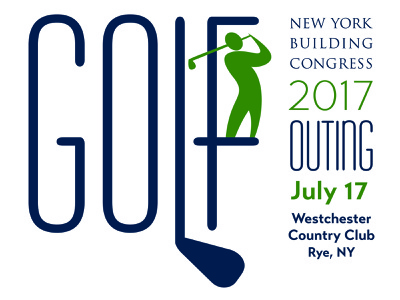 New York Building Congress Golf Event Logo event logo branding illustration award winning logo graphic design art direction typography design