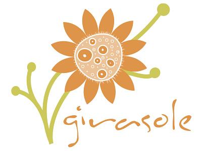 Girasole Logo Dribble flowershop logo graphic design art direction typography design