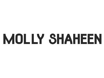 Molly Shaheen Logo wordmarks wordmark logo wordmark custom lettering lettering graphic design art direction typography design