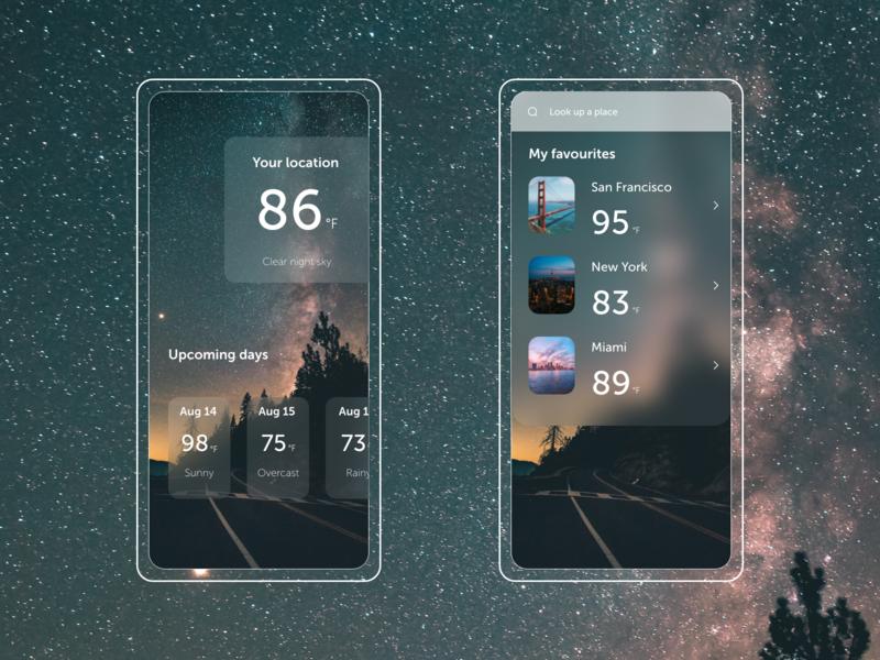 Weather App Exploration ios design ios forecast app forecast weather app weather
