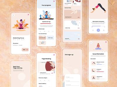Yoga App Design ui redesign design app design ux ios app design yoga app app yoga