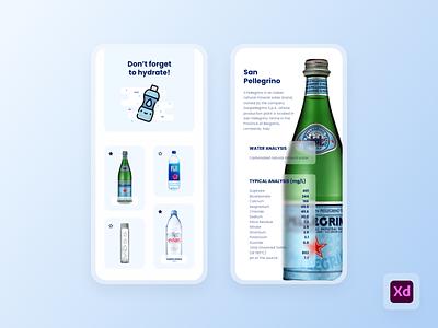 Water App Exploration fun ui hydration water app water ios design ui design ui