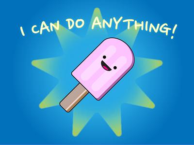 Icecream can do anything! ai illustration fun icecream